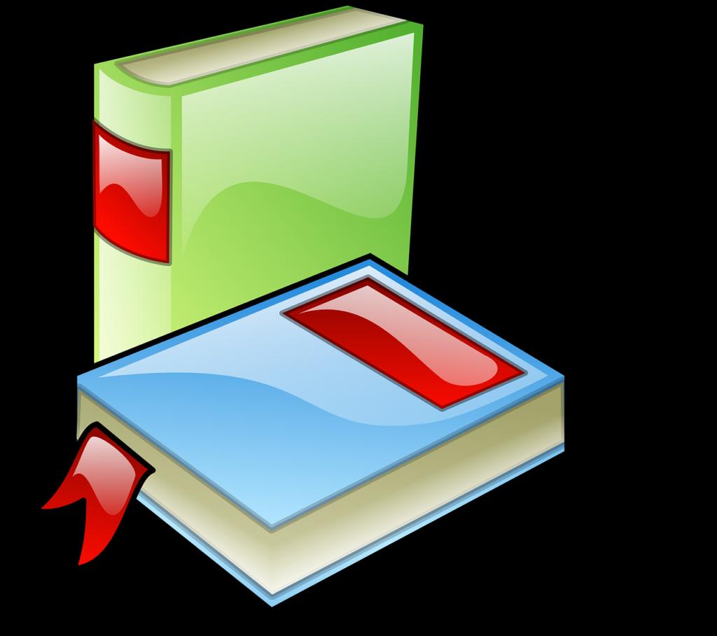 """image d'illustration du titre """"Nos outils de correction"""" présentant le dessin de deux livres l'un posé à la verticale, le second à plat."""